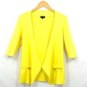 ESCADA SPORT Open Front 3/4 Sleeve Cardigan Silk